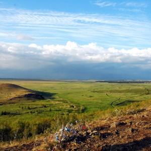 Вид аркаимской долины с горы Грачиной