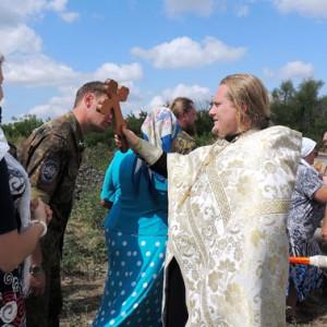Окончание крестного хода в селе Никольском