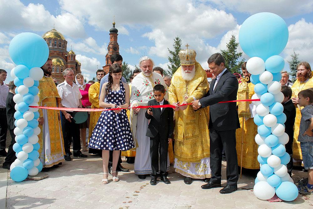 Светская часть открытия детской площадки в Обители Милосердия