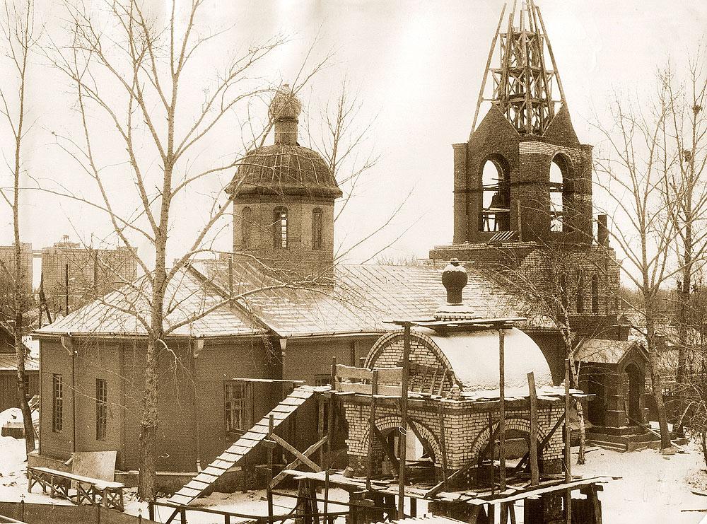 Восстановление храма Симеона Верхотурского. 1991 год