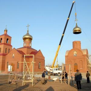 Строительство храма Покрова Пресвятой Богородицы в селе Адамовка