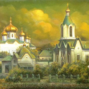 Успенский женский монастырь в Оренбурге - рисунок Ольги Нагорной