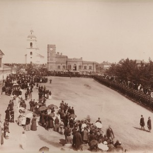 Казачий парад на бульваре в Оренбурге
