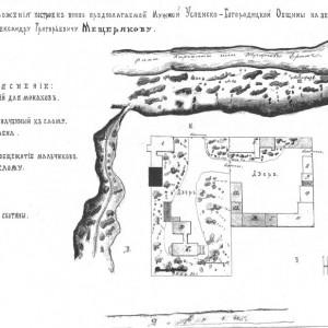 План Успенско-Макарьевского мужского монастыря